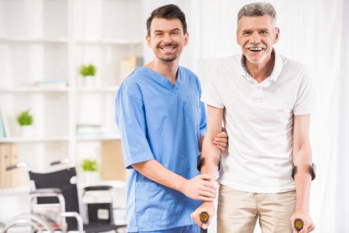 Caregiver with a Patient